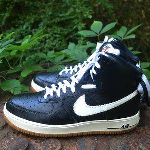 Nike Air Force 1 High Black White Men 10